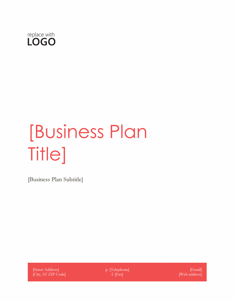 simple business plan template for word