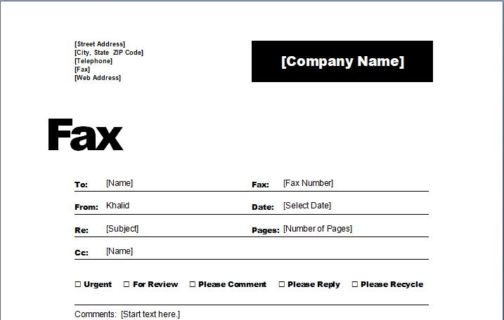 Fax Cover Sheet Template – Fax Cover Sheet Free Template