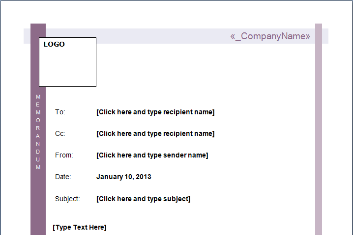 Office Templates – Interoffice Memo Sample Format