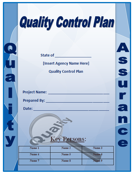 Quality control plan template microsoft word templates for Quality assurance certificate template
