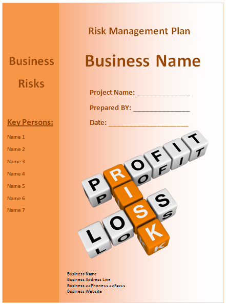 risk management plan template