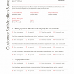 Sample Satisfaction Survey Template