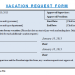 Vacation Request Template