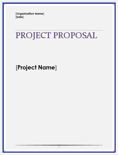 Project Proposal Template  Blank Proposal Template