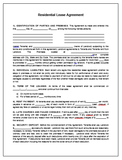 Property Agreement Template  Contractor Agreement Template Word