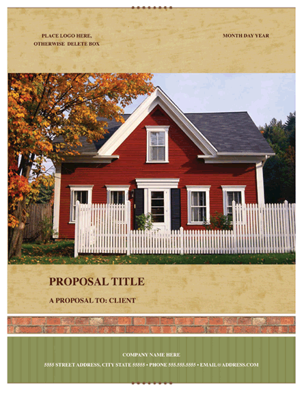 Real Estate Proposal Template – Free Sales Proposal Template