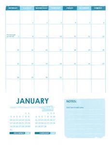 Calendar Template for Office