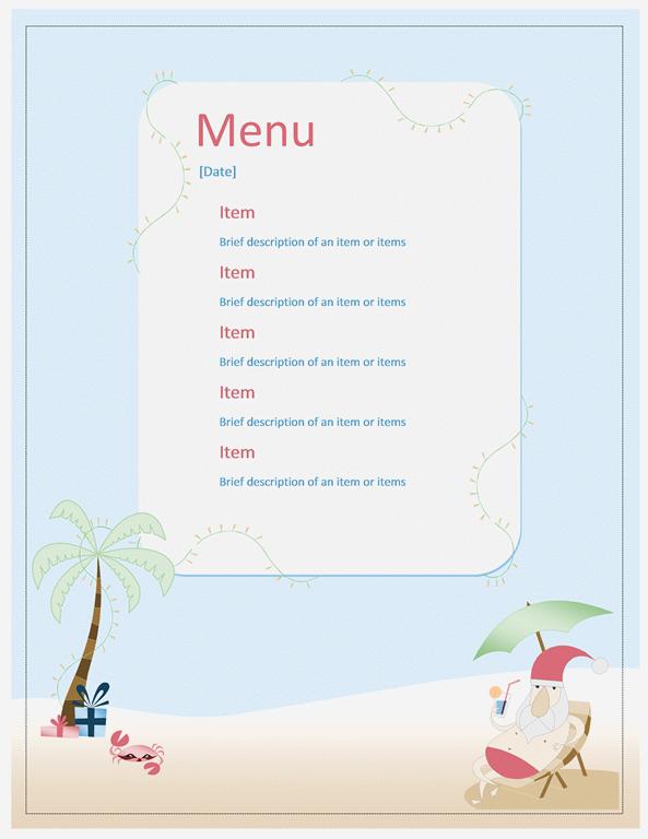 menu templates archives microsoft word templates