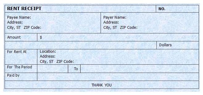 house rent receipt – House Rent Bill Format