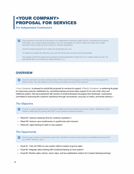 Sales Proposal Template  Proposal Of Work Template