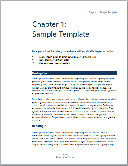 User Manual Template – Ms Word User Manual