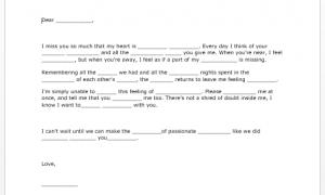Sample Love Letter