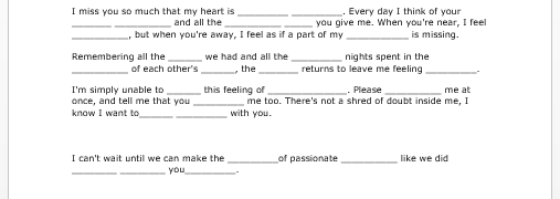 Sample Romantic Letters For Her How Write Love Letter How To – Love Letter Template Word