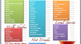 drink menu template microsoft word - free menu templates microsoft word templates