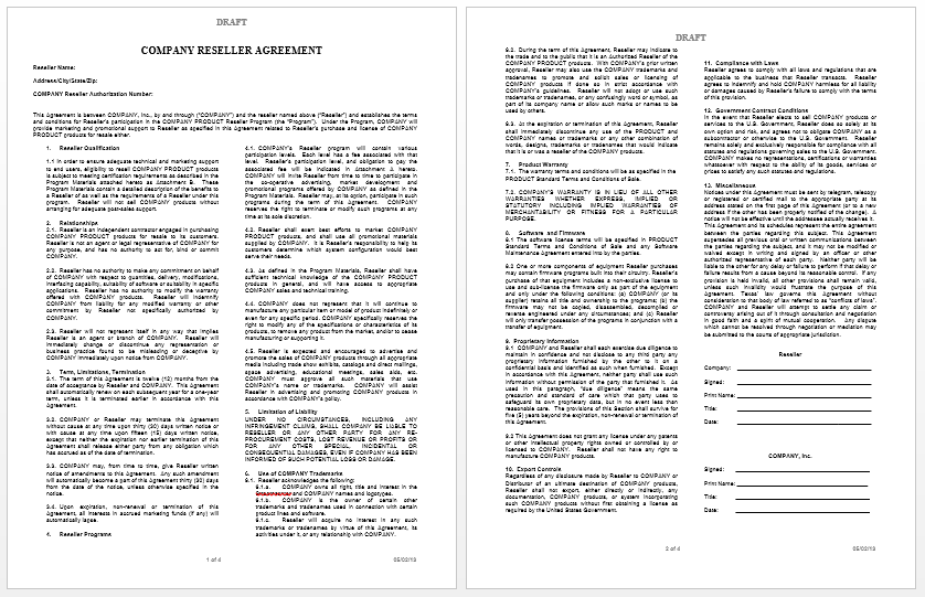 Private Label Agreement Template – Terms of Agreement Contract Template