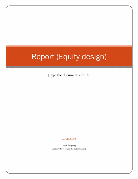 Company Ysis Report Template
