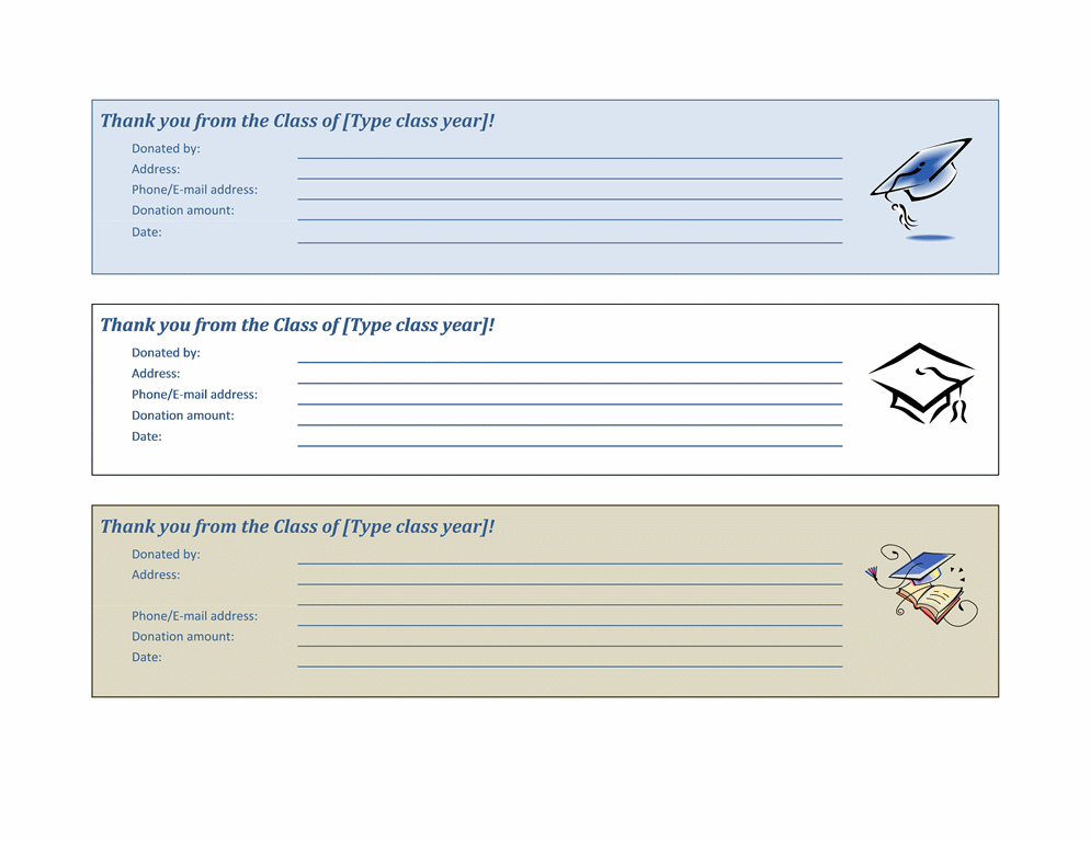 donation slip template