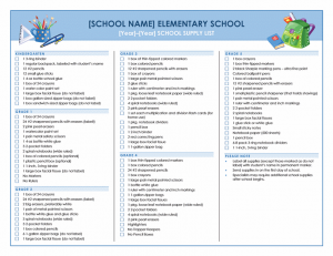 School Grading Report Template