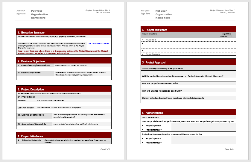 Statement of Work Template 02