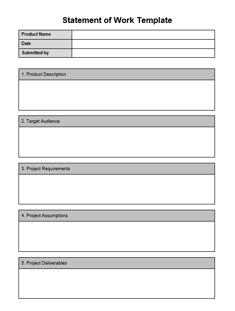 Statement of Work Template 04
