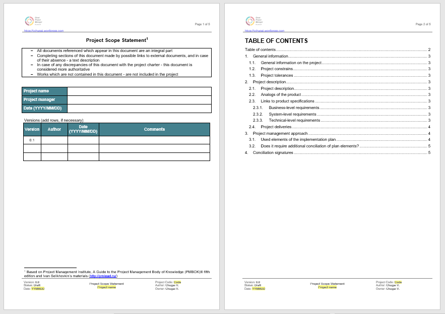 Statement of Work Template 06