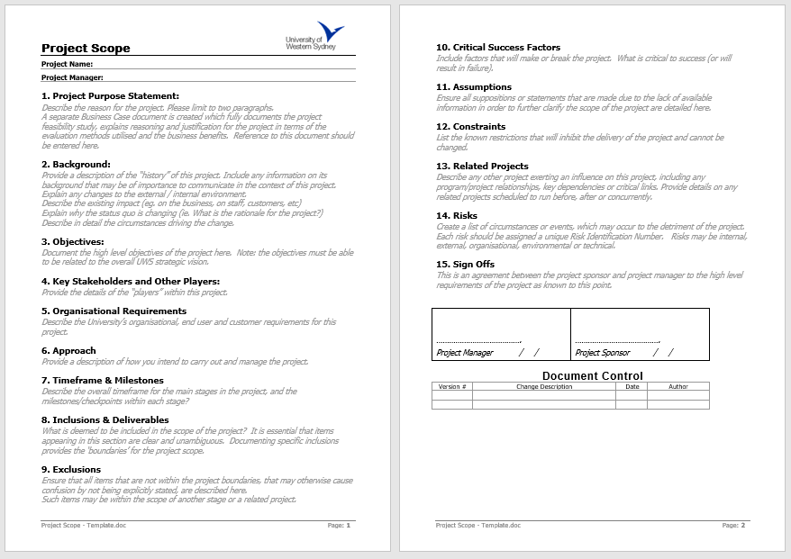 Statement of Work Template 07