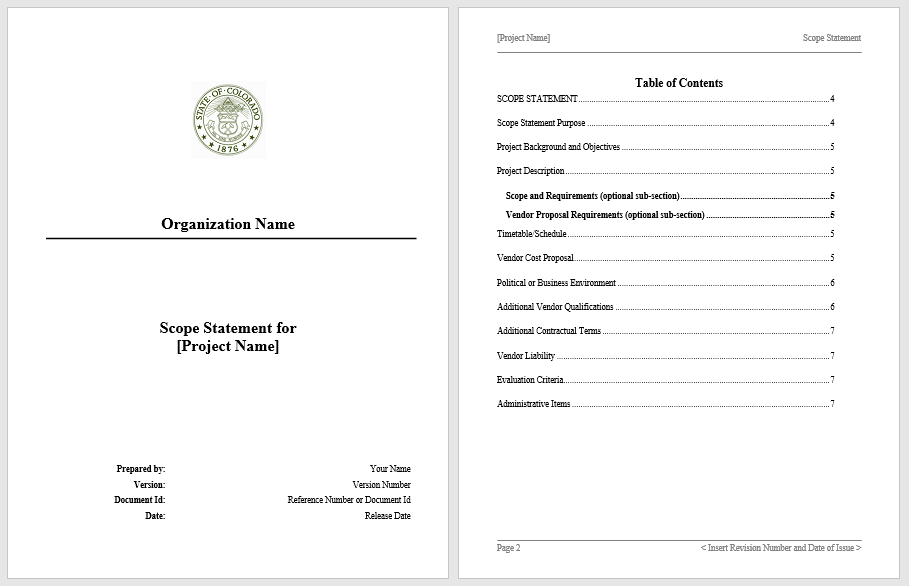 Statement of Work Template 08