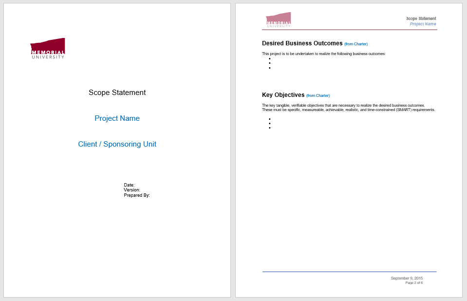 Statement of Work Template 10