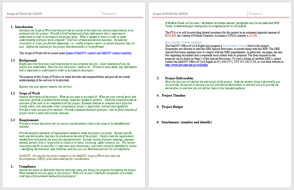 Statement of Work Template 11
