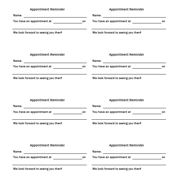 Appointment Slip Template 05