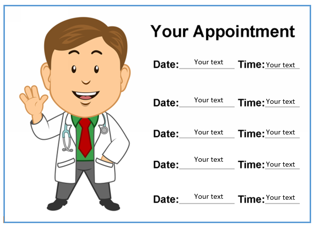 Appointment Slip Template 06