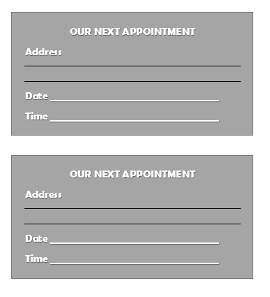 Appointment Slip Template 07