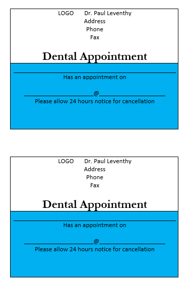 Appointment Slip Template 08