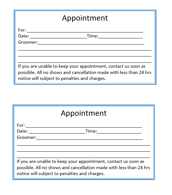 Appointment Slip Template 09