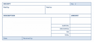 Purchase Receipt Template
