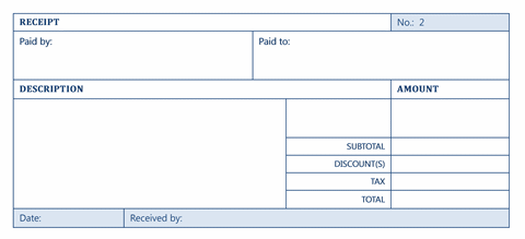 invoice receipt template word