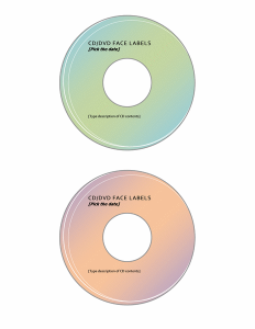 CD/DVD Label Template