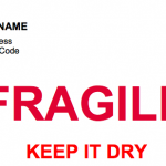 Fragile – Keep It Dry – Label Template