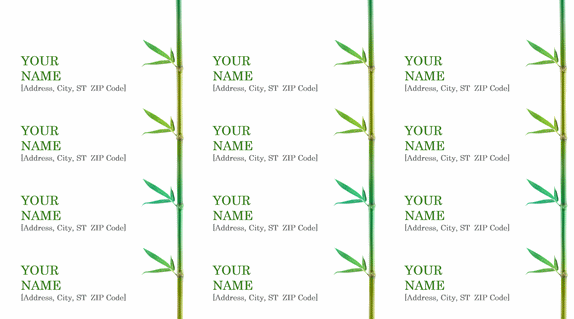 Return Address Label Example – Address Label Format