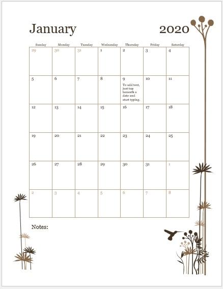 Formal Weekly Calendar Template