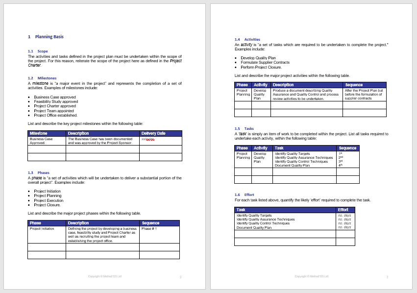 Project Plan Template 04