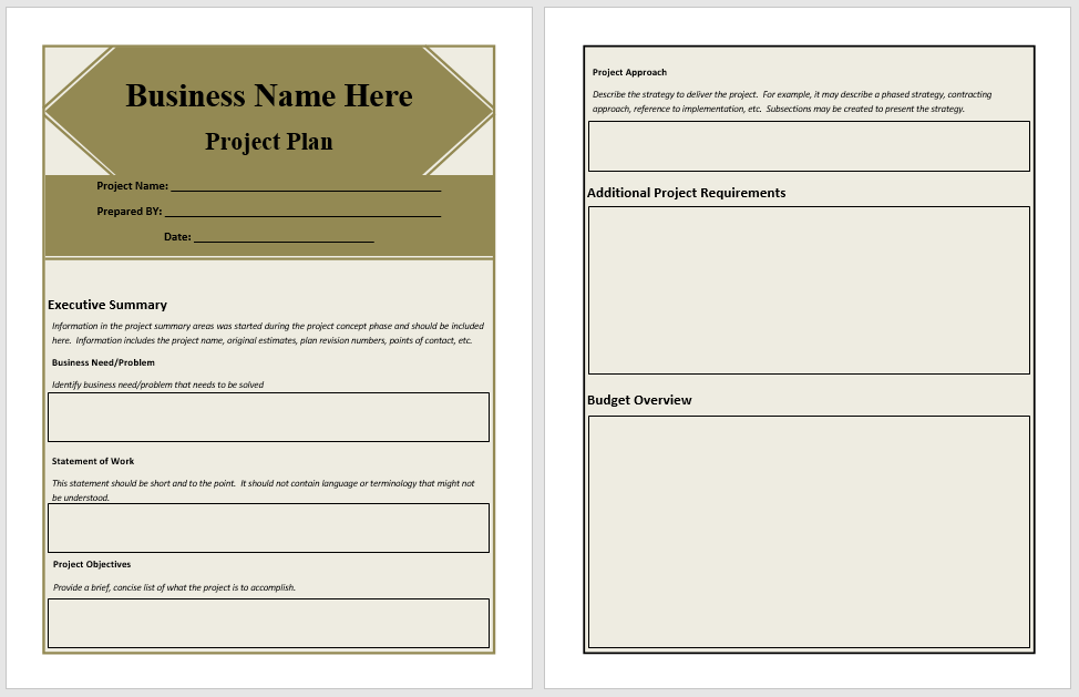 Project Plan Template 05