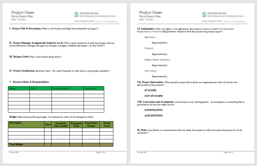 Project Plan Template 06