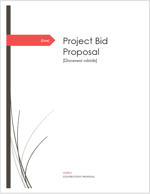 Bid proposal template 05