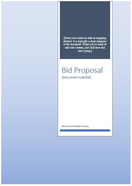 Bid proposal template 07