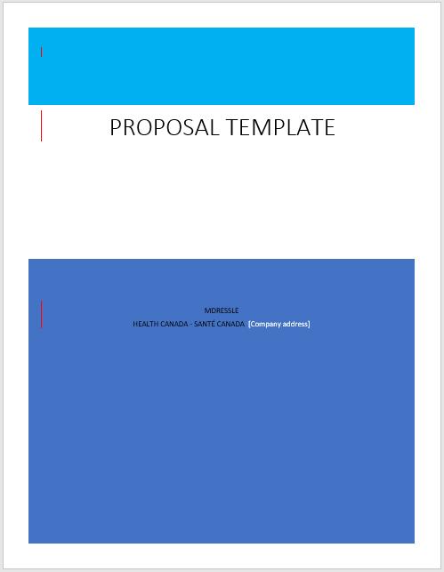 Bid proposal template 09