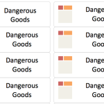 Dangerous Goods Label Template
