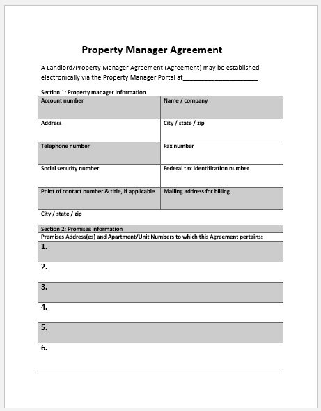 Property Agreement Template 04