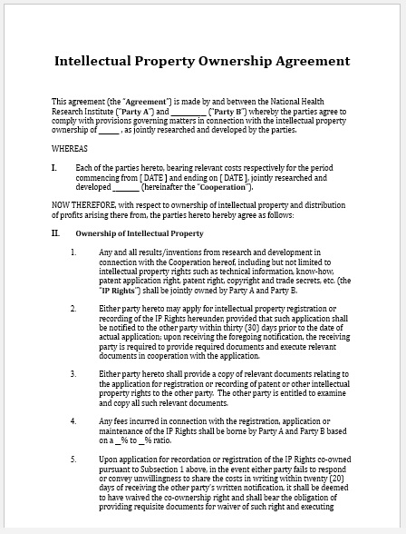 Property Agreement Template 07