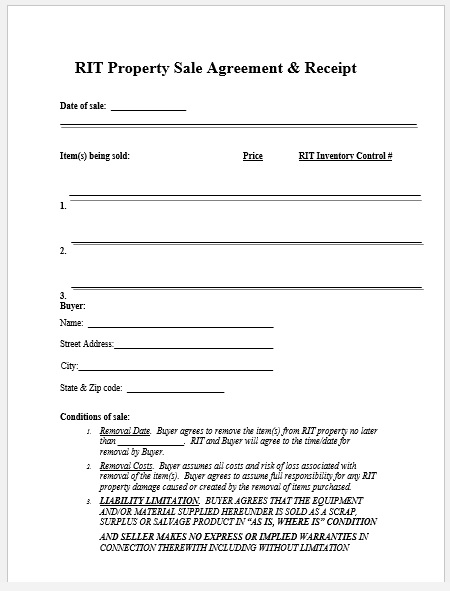 Property Agreement Template 09